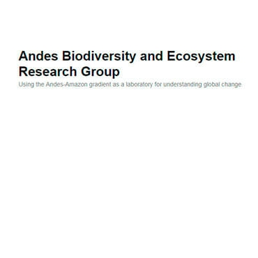 Andes Biodiversity and Ecosystem Research Group